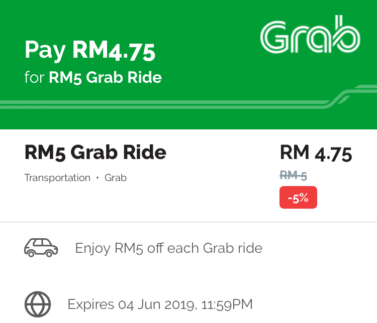 Get 5% Off Grab Ride with Boost App - Promo Codes MY