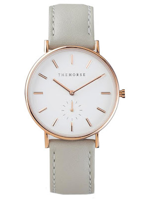 The Horse The Classic Watch - Rose Gold & Grey Leather