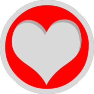 heart button outline