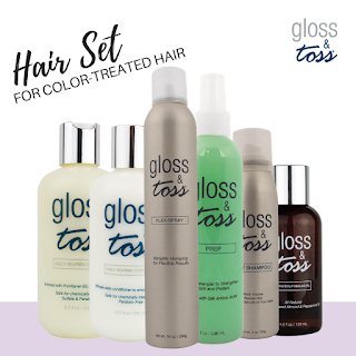 Hair Care Kit for Color Treated Hair Type by Gloss & Toss