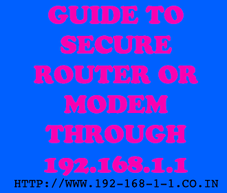 Secure Wifi Router 192.168.1.1 Password