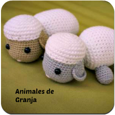 Animales de granja amigurumi