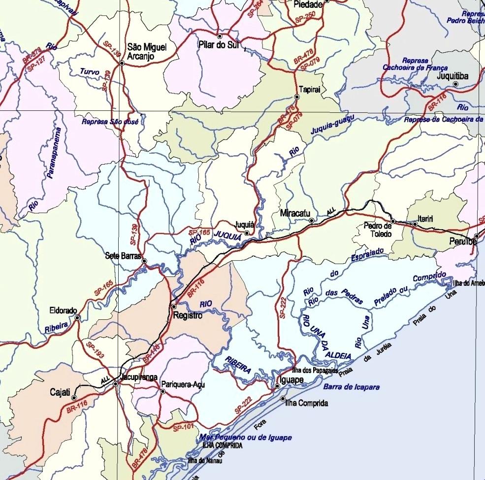 mapa politico do estado de sao paulo