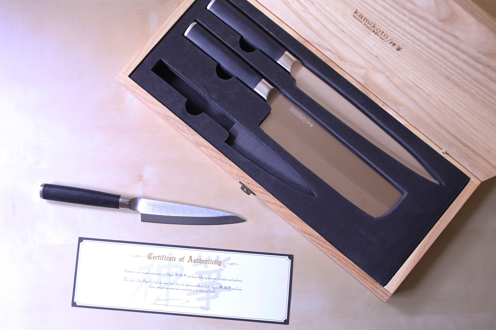 Japanese Foodie: KAMIKOTO 神箏 KANPEKI KNIFE SET REVIEW