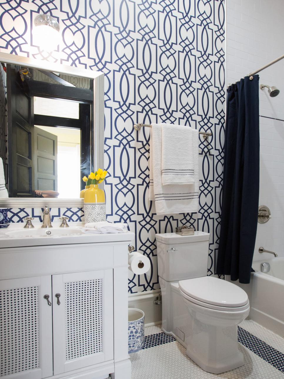 Property Brothers New Orleans pictures of renovated bathroom