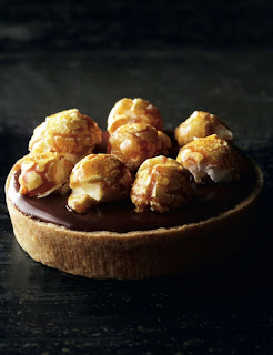 Tartelettr au chocolat et pop corn