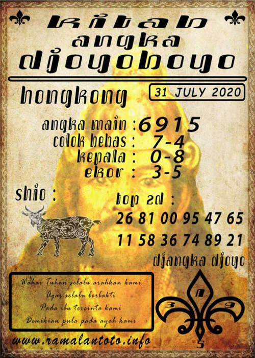 Kode syair Hongkong Jumat 31 Juli 2020 310