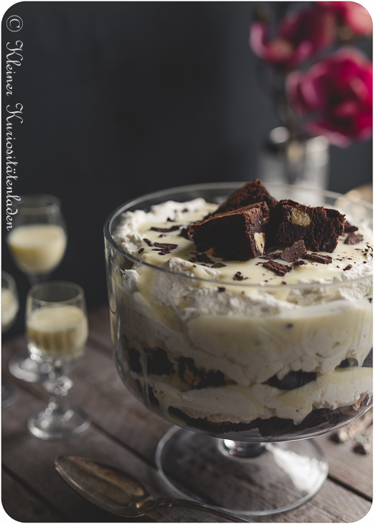 Eierlikör-Brownie-Trifle