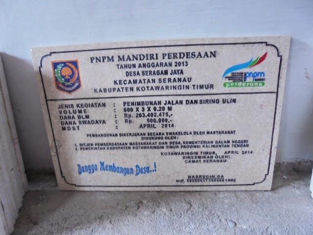Batu Prasasti Peresmian PNPM