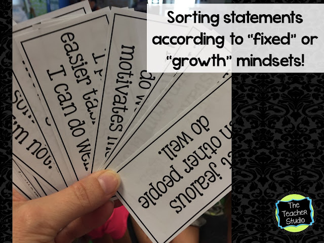 """Getting ready to teach growth mindset with a """"sort"""" activity"""