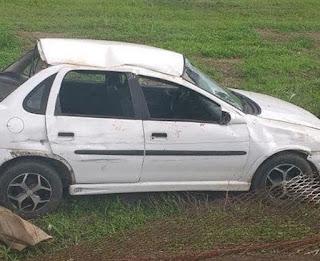 Mulher e adolescentes se ferem em acidente durante suposto 'racha'