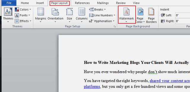 كيفية إضافة علامة مائية إلى مستندات وورد Word الخاصة بك