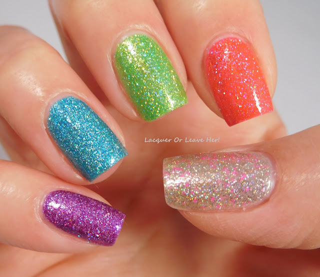 Girly Bits Cosmetics Brick House, The Hustle, Le Freak, Stayin' Alive, and Sequins & Satin Pants