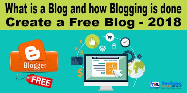 Create a Free Blog - 2018