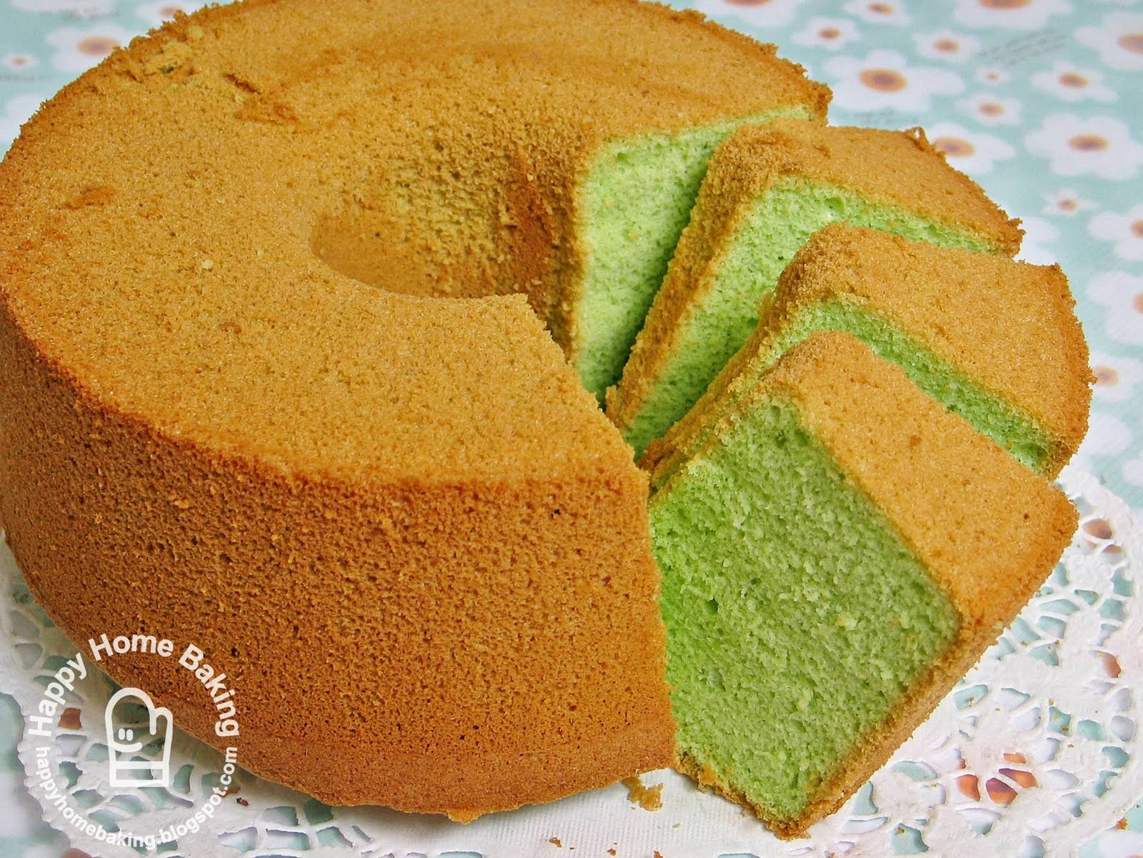 Rose Chiffon Cake Recipe