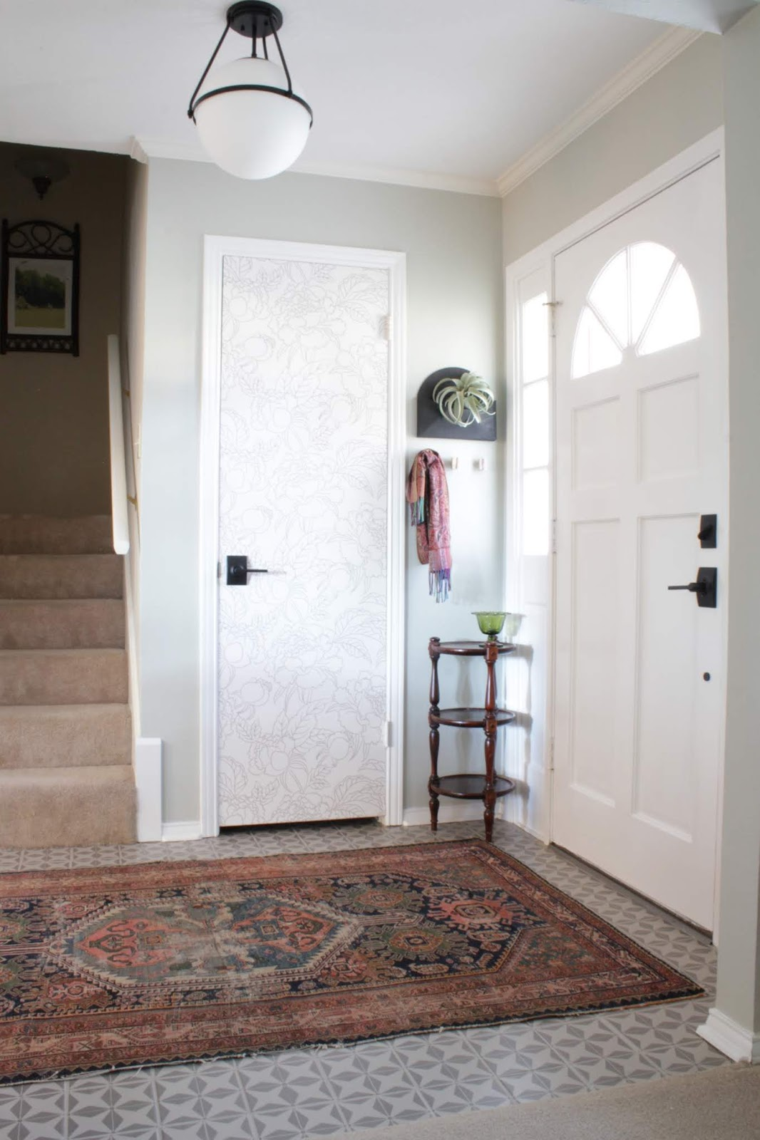 Stenciled Floor and Entryway Updates | House Homemade