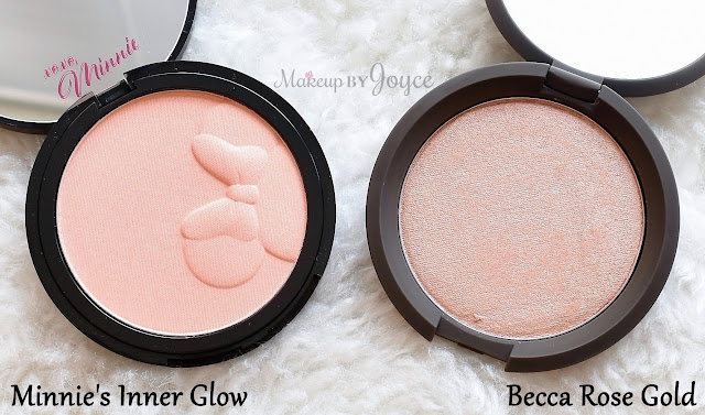 Sephora Disney Minnie's Inner Glow Luminizing Blush Highlighter Limited Edition Swatch Comparison