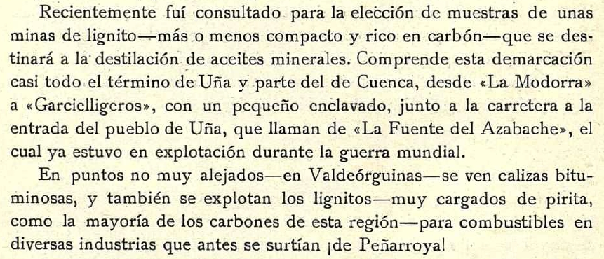 El yacimiento petrolífero de Cuenca