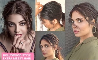 How To : Bollywood Inspired Extra Messy Hair Hairstyle /step by step Celebrity inspired Hairstyle