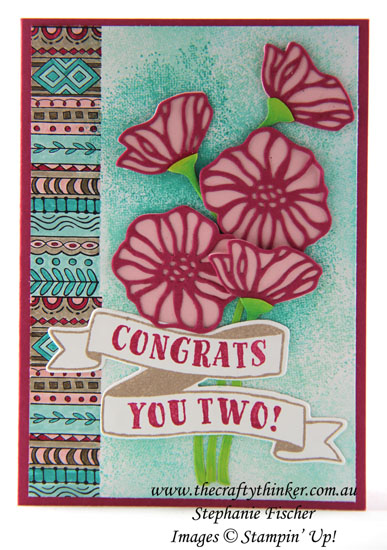 www.thecraftythinker.com.au, Congratulations card, Eclectic Layers, Hello Color, Stampin Up Australia Demonstrator, Stephanie Fischer, #thecraftythinker, #cardmaking, #stampinup