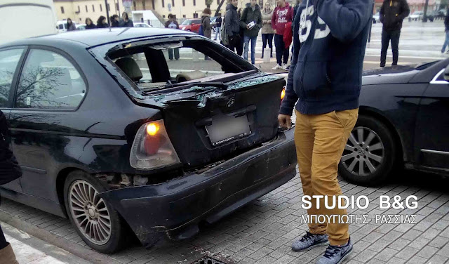Τροχαίο ατύχημα με λεωφορείο και ΙΧ  στο κέντρο του Άργους