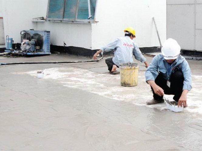 dịch vụ thi công chống thấm sân thượng tại TpHCM