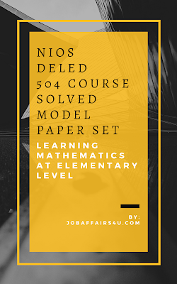 NIOS DELED 504 solved sample paper