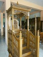 Mimbar Masjid Kubah krawangan