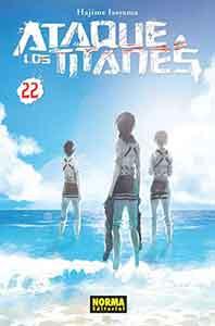 Ataque a los Titanes 22, continua esta exitosa saga creada por Hajime Isayama