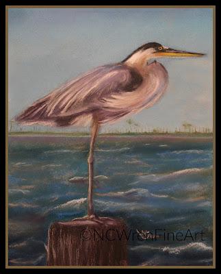 heron watercolor ncwren