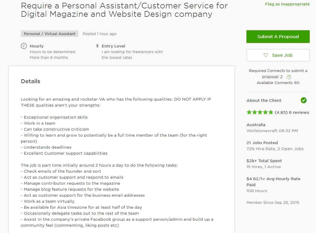 Upwork Cover Letter Sample For Web Designer
