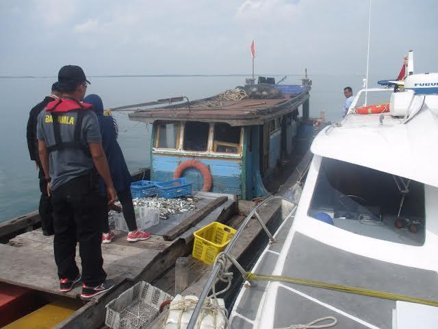 Bakamla RI Tangkap Pengguna Pukat Trawl di Perairan Kep. Seribu