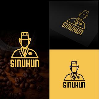 desain logo untuk coffee shop kedai kopi Sinuhun