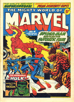 Mighty World of Marvel #4, Spider-Man vs the Fantastic Four, Jim Starlin cover