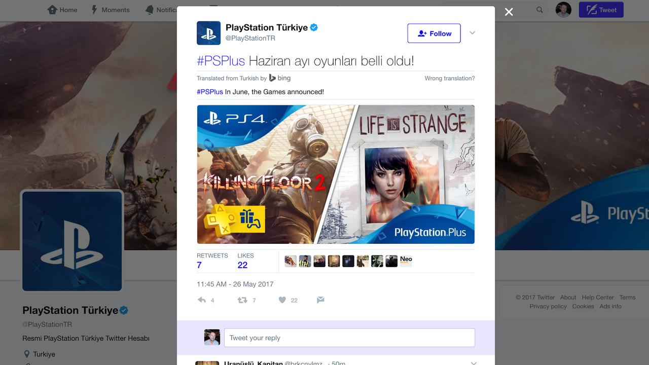 Killing Floor 2 y Life is Strange serían los juegos PSN + de junio
