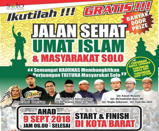 Animo Masyarakat Tinggi, 50.000 Kupon Jalan Sehat 9 September Di Solo Ludes