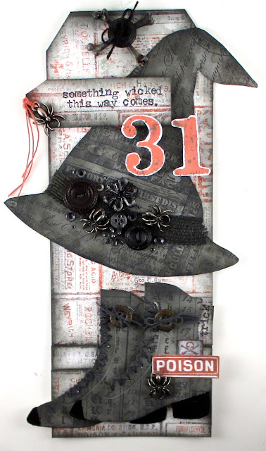 Stampers Anonymous Etcetera Mini Halloween Sizzix Tim Holtz Ice Skates Idea-Ology Halloween For the Funkie Junkie Boutique
