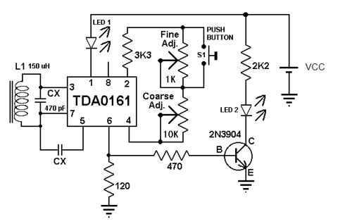 detecting metals tda0161 require an external lc tuned circuit metal
