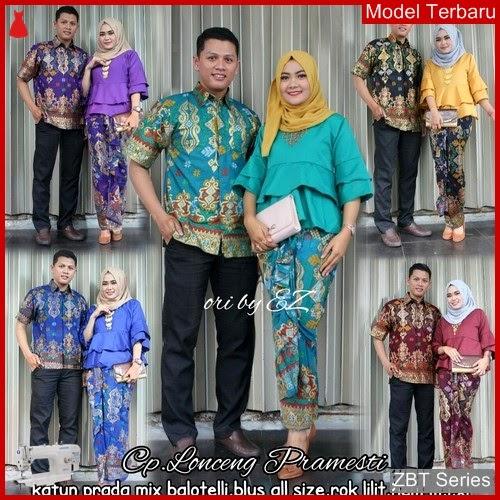 ZBT04209 Kebaya Batik Couple Lonceng Pramesti Grosiran BMGShop