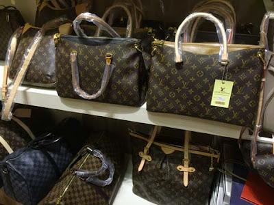 Borse logate e contraffatte Louis Vuitton