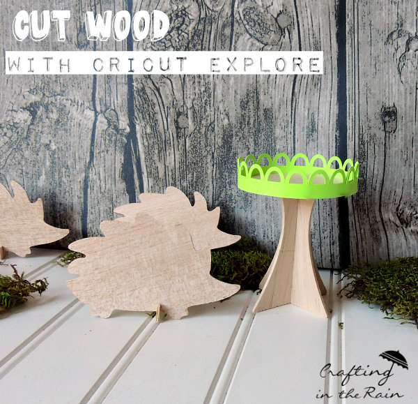 Wood Hedgehog Place Cards And Cupcake Stand Crafting In