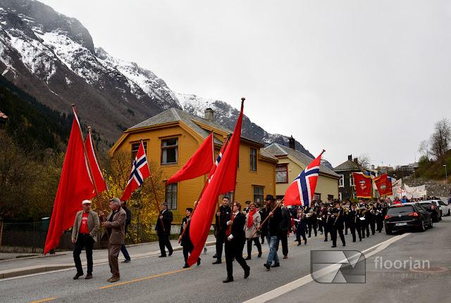 1 maja w Norwegii. Śwęto i pochód w Oddzie