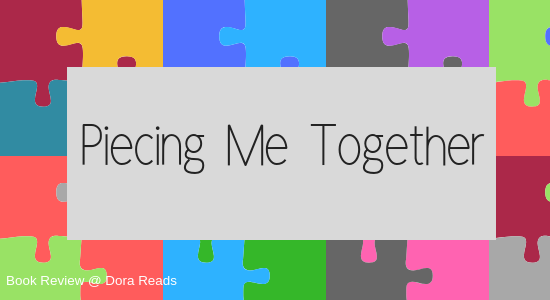 Piecing Me Together title image with multi-coloured jigsaw-piece background