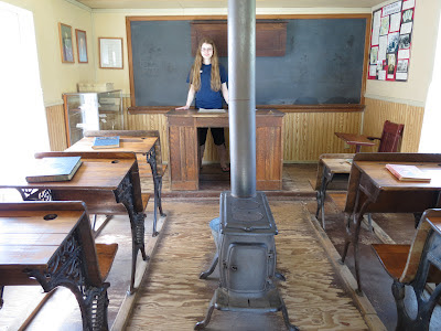Interior view of replica schoolhouse at the Laura Ingalls Wilder Museum