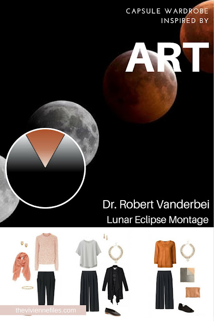 How to Build a Travel Capsule Wardrobe by Starting with Art: Lunar Eclipse Montage by Dr. Robert Vanderbei
