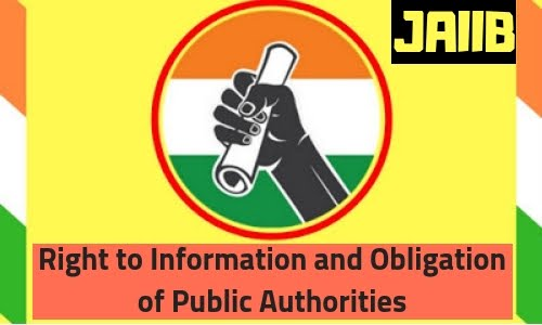 Right to Information and Obligation of Public Authorities