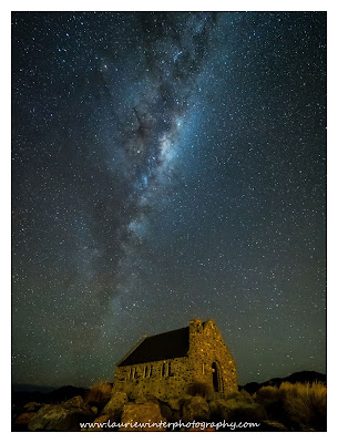 Milky Way, Church, Good Shepherd, Tekapo, Lake Tekapo