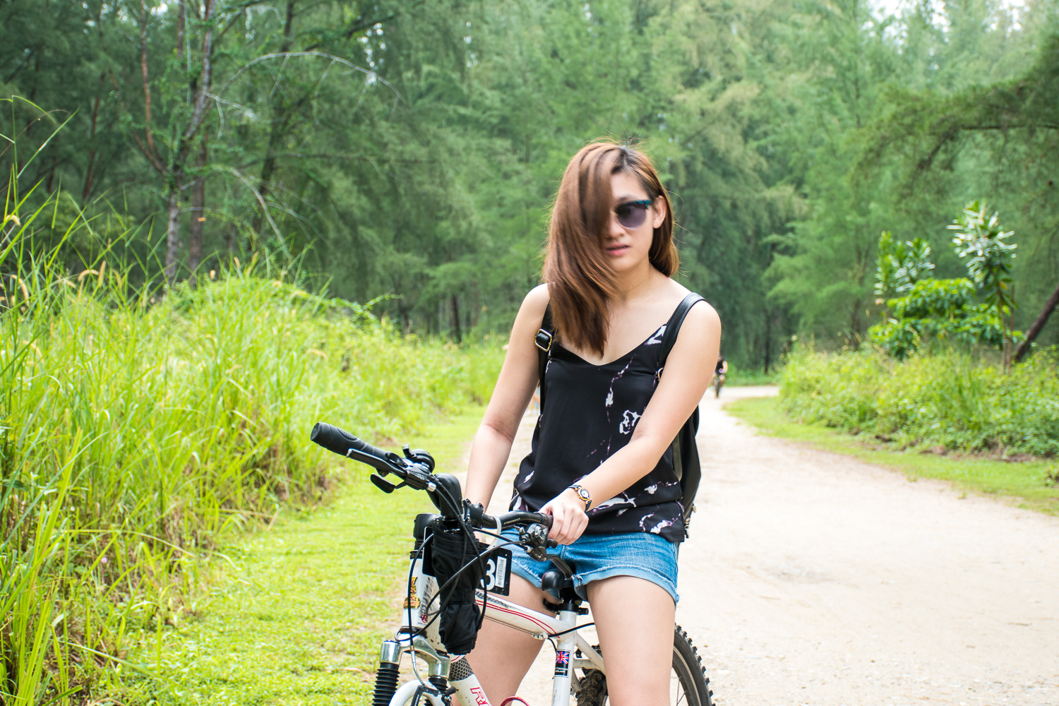 bicycle riding Coney island singapore