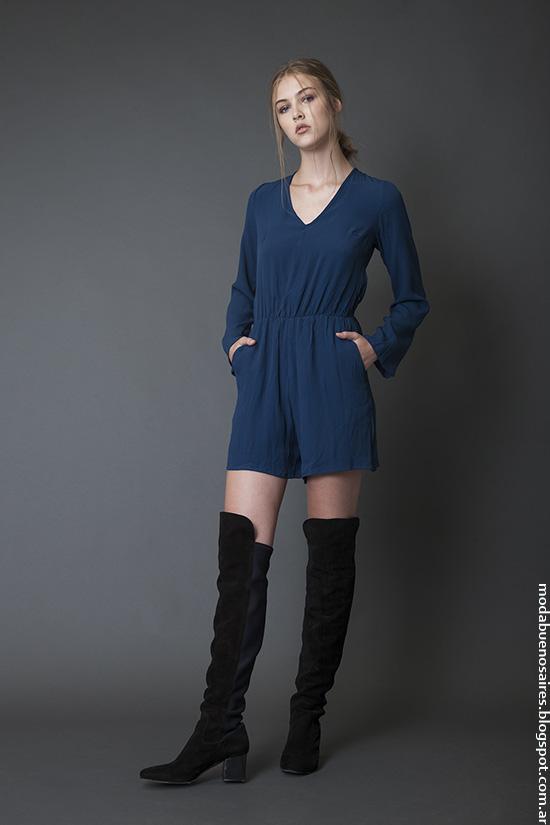Moda invierno 2016 ropa de mujer Bled monos invierno 2016.
