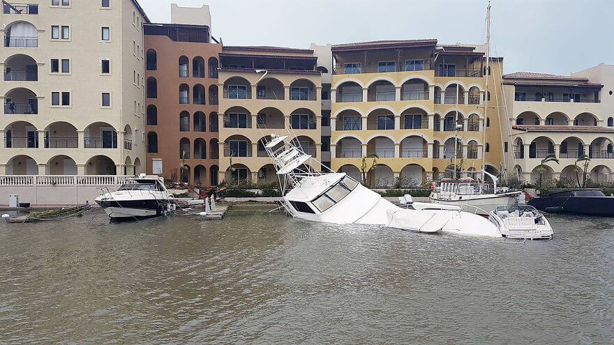 30 Shocking Pictures That Show How Catastrophic Hurricane Irma Is - Luxury Yachts Were Destroyed And Sunk As Huge Waves Battered The Coast Of St Martin Overnight